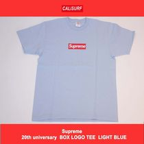 Lサイズ!Supreme 20th Anniversary Box Logo tee Blue