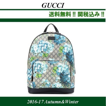 16-17AW★関税込★GUCCI(グッチ)メンズ GG Blooms バックパック