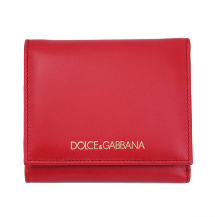 Dolce & Gabbana three bifold wallet red BI0088-B6165-8M307