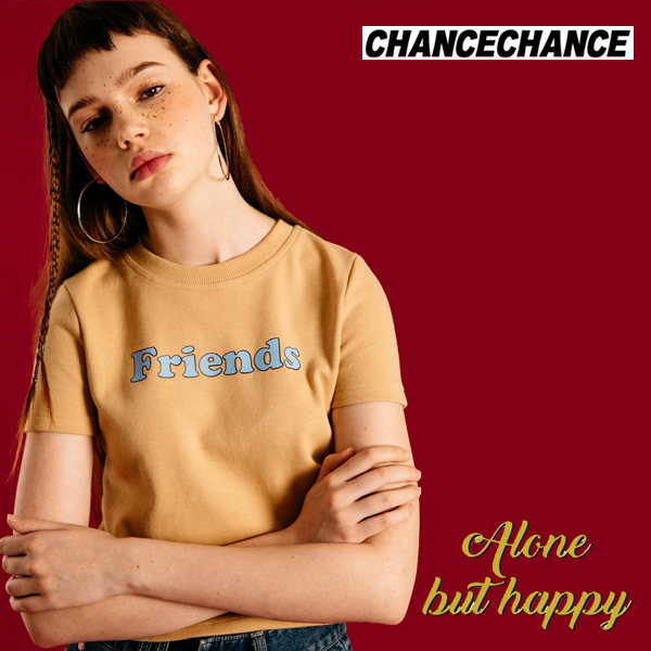 日本未入荷◆CHANCECHANCE◆Friends crop half t shirts在庫少量