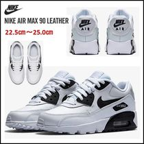 【NIKE】大人気!★Nike Air Max 90 Leather★ホワイトブラック
