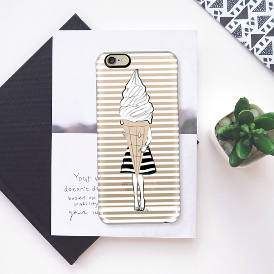 ☆Casetify☆ iPhoneクリアケース★Ice Cream Girl【送料込】