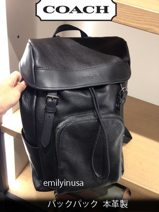 COACH★メンズ★8月新作 HENRY BACKPACK  本革製 F72311*黒
