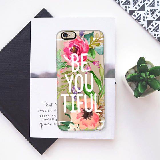☆Casetify☆ iPhoneクリアケース★Be YOU Tiful【送料込】