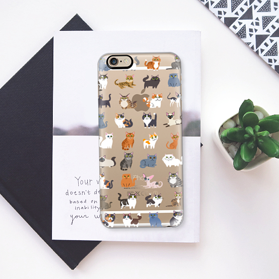 ☆Casetify☆ iPhoneクリアケース★All Cats【送料込】