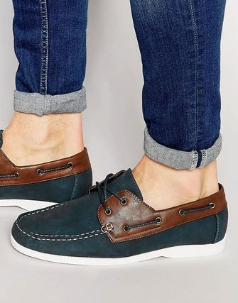 New Look Boat Shoes In Navy