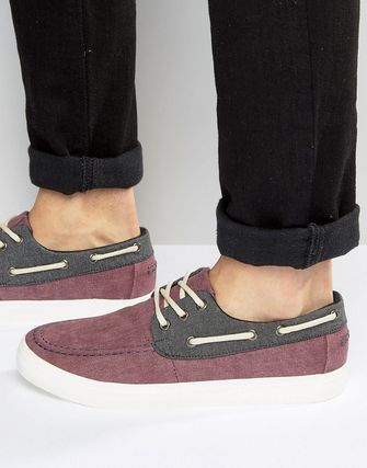 New Look Boat Shoes In Red