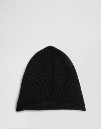 ASOS Beanie With Back Turn Up In Black