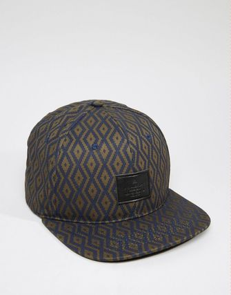 ASOS Snapback With Navy Print