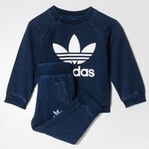 ADIDAS KIDS ORIGINALS☆DENIM CREW SUIT 上下セットS95948