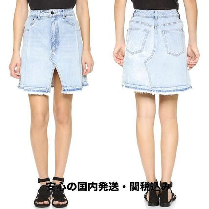 国内発送★Denim x Alexander Wang☆Pleated Miniskirt