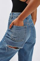 《ドキッとするダメージ♪》☆TOPSHOP☆Cheeky Rip Mom Jeans