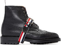 Black Leather Wingtip Boots ウイングチップブーツ