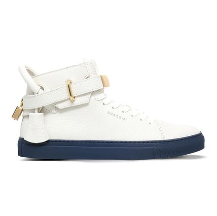 【関税/送料込】【BUSCEMI】 100mm padlock leather high-top