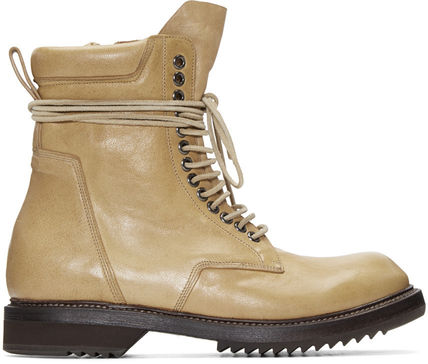 Camel Leather Army Boots レザーアーミーブーツ
