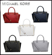 MICHAEL KORS★SELMA MEDIUM STUDDED SATCHEL 国内発送! 関税込