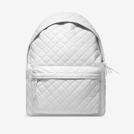 Stampd' LA★White Quilted Leather Backpackレザーバックパック