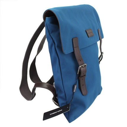 Dolce & Gabbana backpack canvas / leather blue BM1240