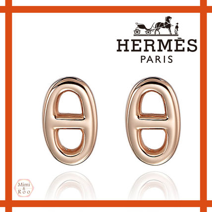 *Hermes*大人気♪シンプルHロゴ☆Chaine d'Ancre☆ピアス