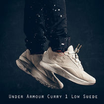 UNDER ARMOUR CURRY 1 LOW SUEDE ベージュ スエード 日本未入荷