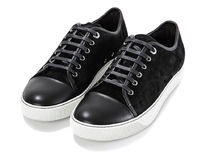 LANVIN(ランバン) スニーカー 【関税負担】 LANVIN 16AW LAMBSKIN AND SUEDE SNEAKERS/BLACK