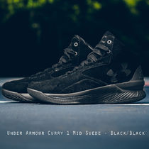 Under Armour Curry 1 Mid Suede スエード ブラック 日本未入荷