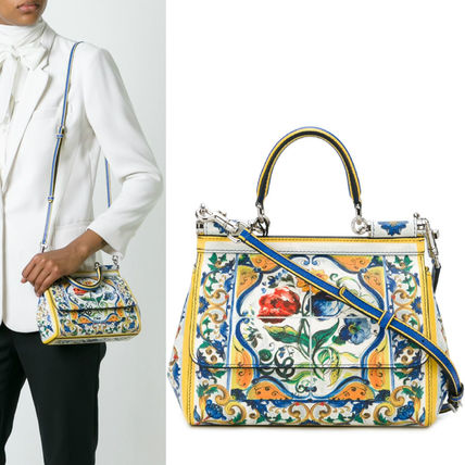 16-17AW DG632 MAJOLICA PRINTED SMALL 'SICILY' BAG