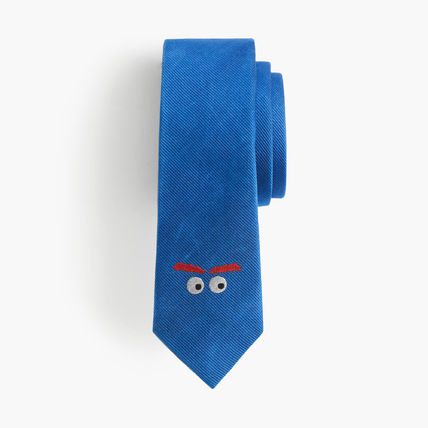 J.CREW 男の子用 critter silk tie in Max the Monsterタイ