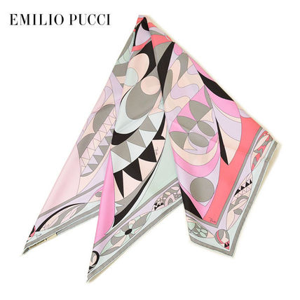 Emilio Pucci and oversized silk scarf and Pucci-patterned