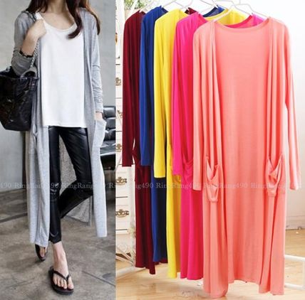 A simple long cardigan and breathable rete care what dress