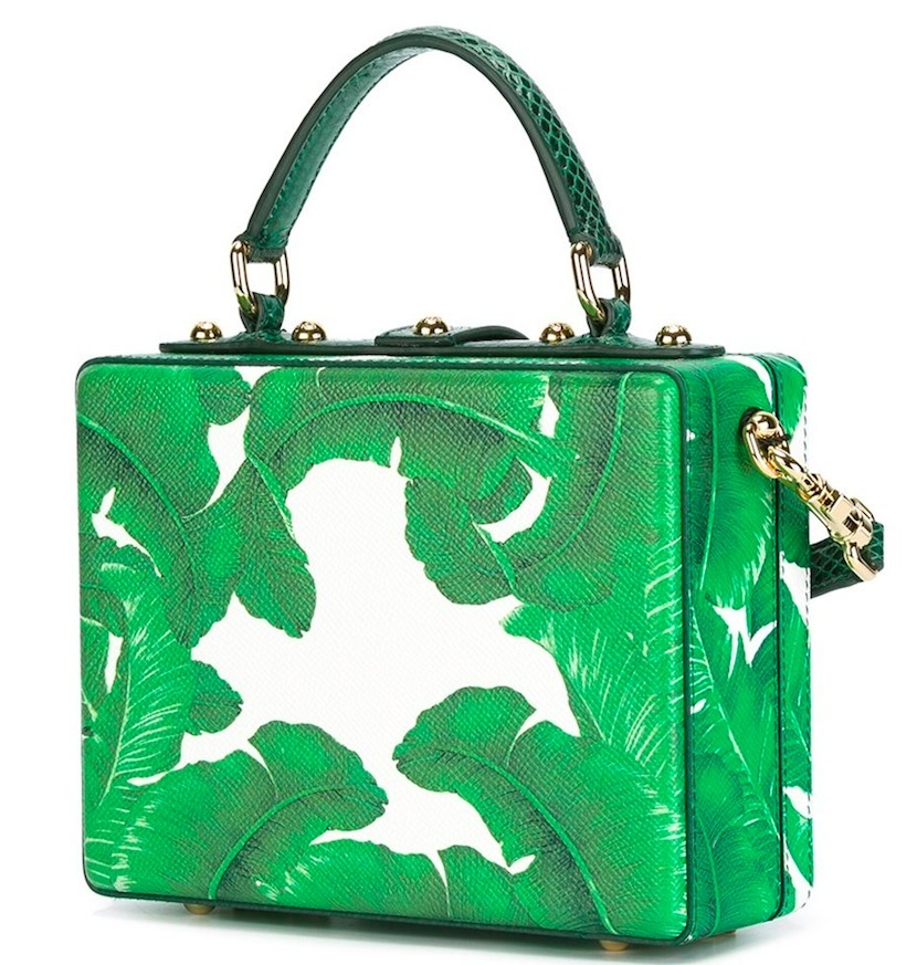 16-17AW DG644 BANANA LEAF EMBELLISHED DOLCE BOX