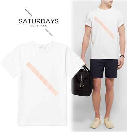2016SS☆SATURDAYS SURF NYC サタデーズ Slash Printed Tシャツ
