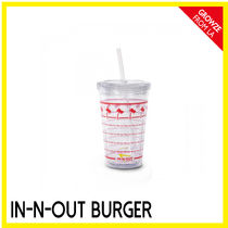 【IN-N-OUT】カリフォルニア限定☆ハンバーガークリアカップKIDS