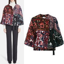 16-17AW C122 TAPESTRY JACQUARD SHORT JACKET WITH KNOT TIE