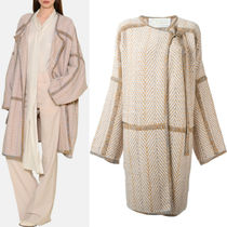 16-17AW C123 WRAP-AROUND COAT IN WOOL & CASHMERE TWEED