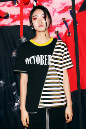 (Oct.3) ☆ OCTOBER3RD Match Stripe T [Black-Yellow] ☆