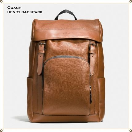 Coach バックパック・リュック 【COACH】コーチ★HENRY BACKPACK IN PEBBLE LEATHER(3)