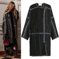 16-17AW C129 LOOK17 WRAP-AROUND COAT IN WOOL/CASHMERE TWEED