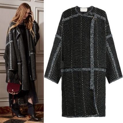 16-17 AW C129 LOOK17 WRAP-AROUND COAT IN WOOL/CASHMERE TWEED