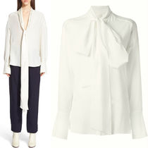 16-17AW C133 TIE BLOUSE IN SILK CREPE