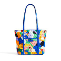 Small Trimmed Vera Tote / Pop Art with Blue