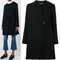 16-17AW C135 A-LINE WOOL COAT WITH TIE