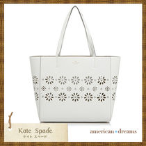 SALE! kate spade お花柄 カット★ トートバッグ White