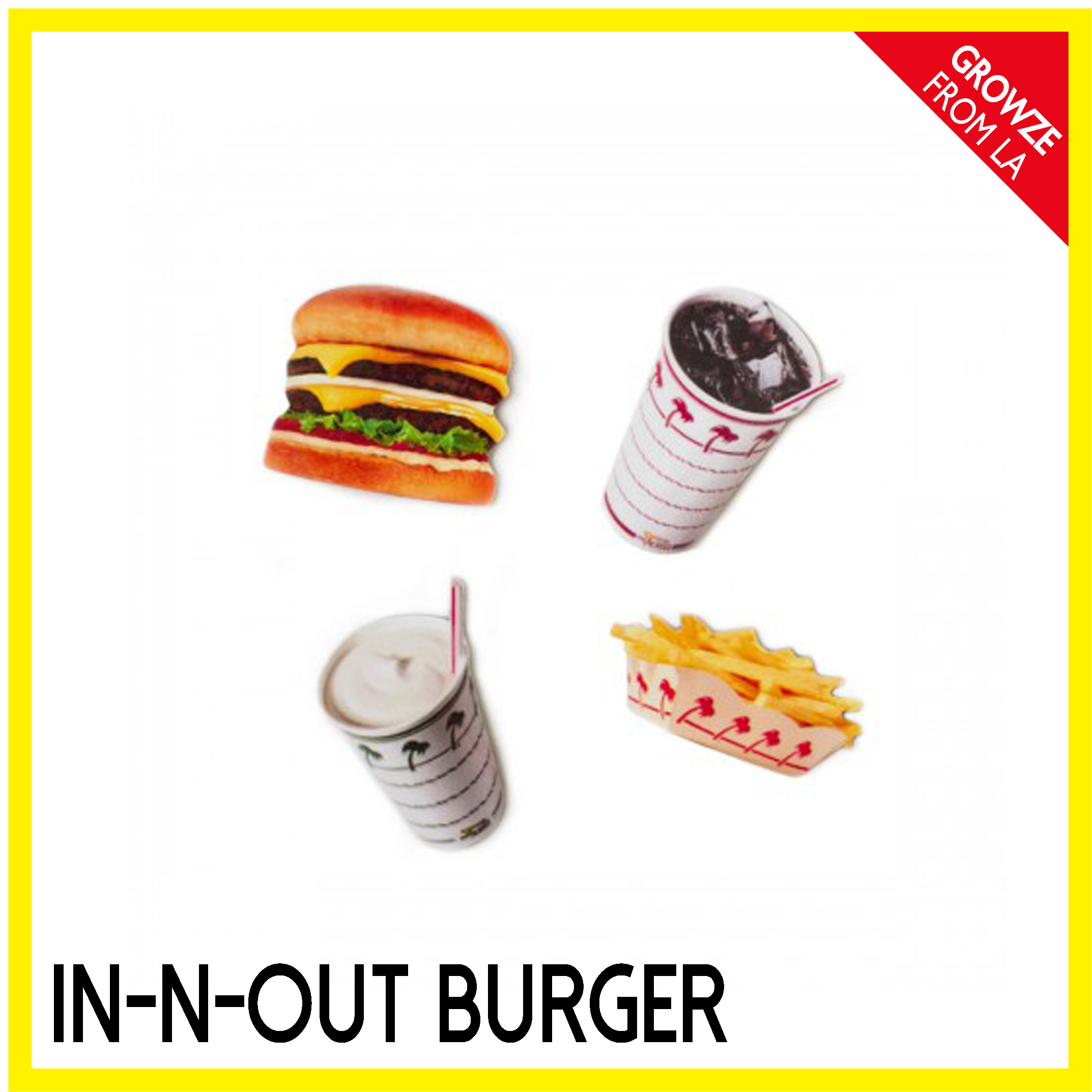 【IN-N-OUT】カリフォルニア限定☆バーガーミニマグネットセット