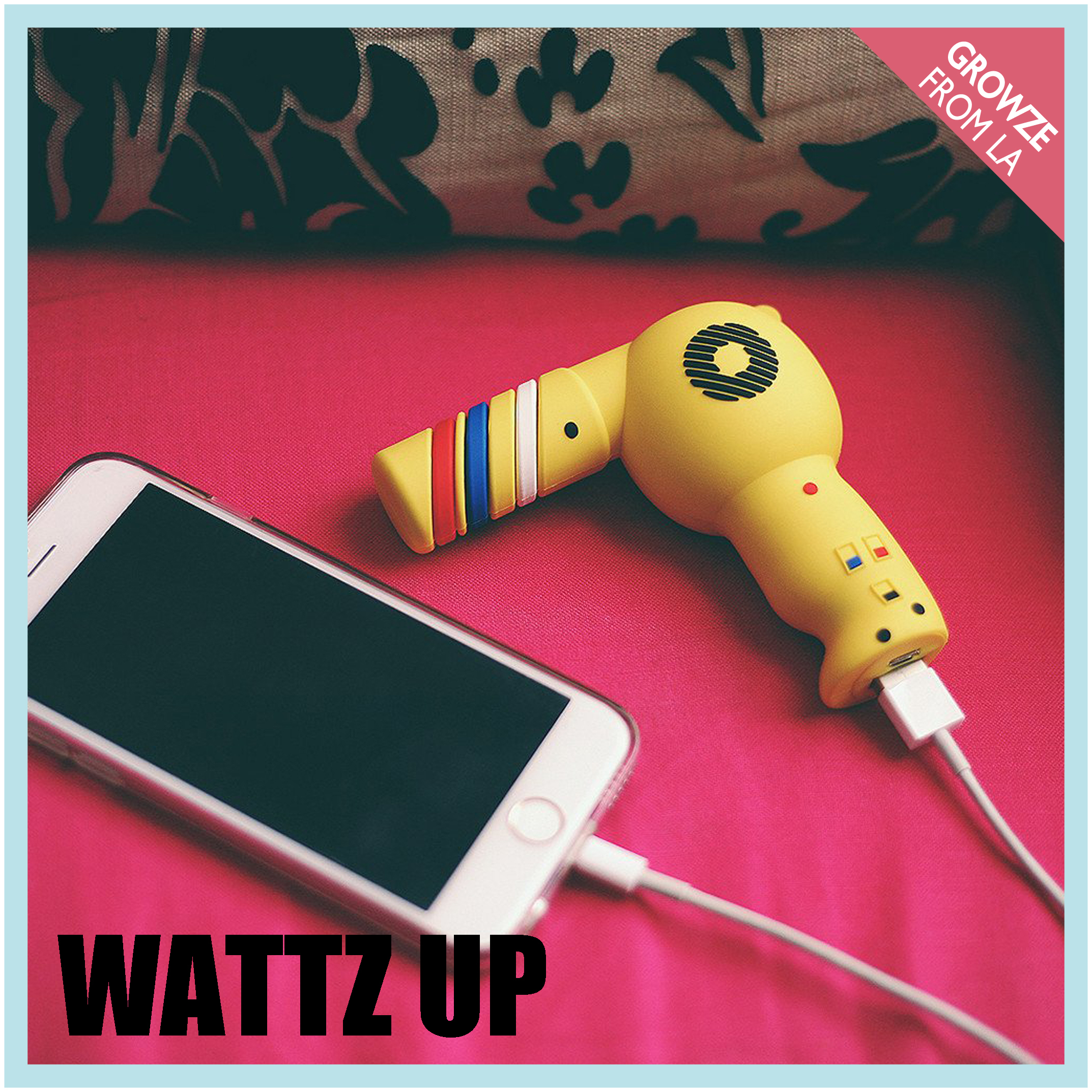 【WattzUp Power】ワッツアップパワー BLOW ME CHARGER黄 充電器