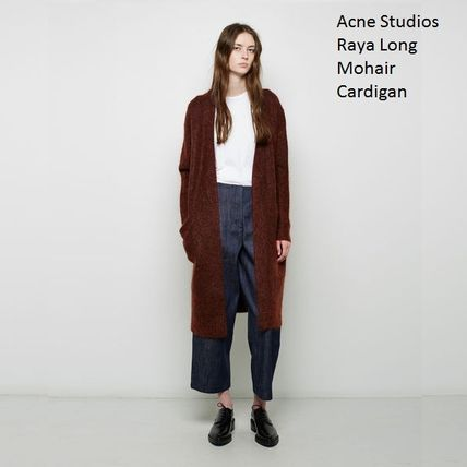 ACNE Raya Long Mohair Cardigan Rust brown カーディガン