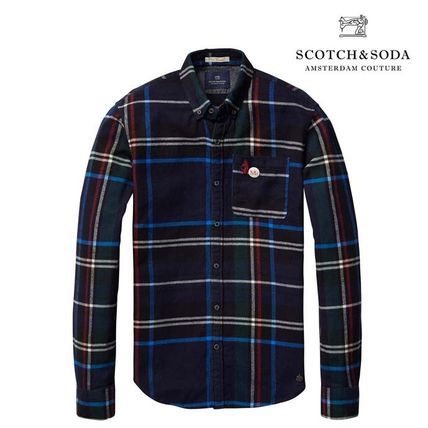 セレブ愛用 【Scotch&Soda】 Multi-Coloured Check Shirt
