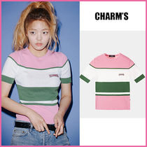 Charm's(チャームス) Tシャツ・カットソー 【CHARM'S】正規品★Red Velvet着用 LOGO KNIT WH&GR/追跡付