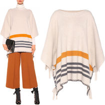 16-17AW C139 WOOL/CASHMERE STRIPED PONCHO