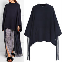 16-17AW C140 CASHMERE KNIT PONCHO WITH SIDE TIE